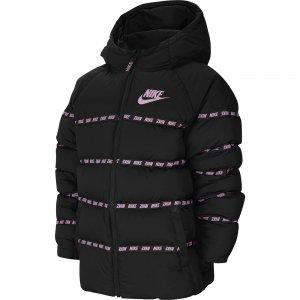 Down Jacket Nike. Цвет: черно-розовый