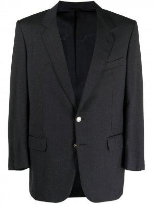 Пиджак 1990-х годов с контрастными лацканами Pierre Cardin Pre-Owned. Цвет: серый