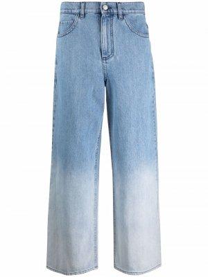 Расклешенные джинсы с эффектом градиента Marni. Цвет: синий