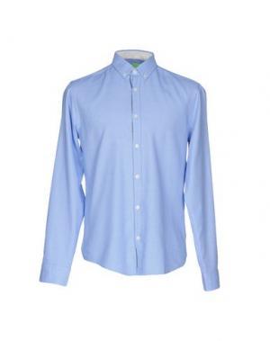 Pубашка BOSS HUGO. Цвет: лазурный