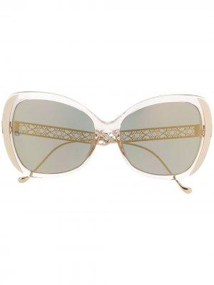 061/GS oversized-frame sunglasses Elie Saab. Цвет: нейтральные цвета