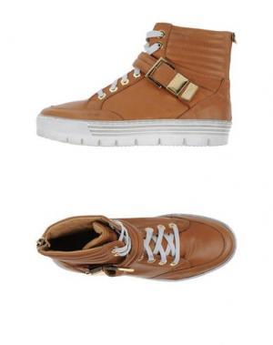 Высокие кеды и кроссовки HENNE. Цвет: коричневый