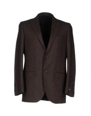 Пиджак AQUASCUTUM. Цвет: темно-коричневый