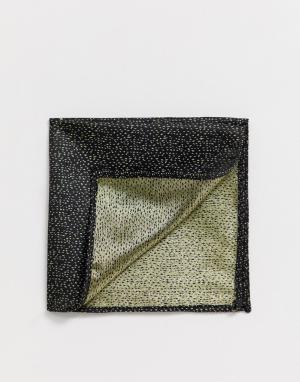 Платок для пиджака в горошек металлик Moss London BROS. Цвет: золотой