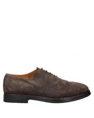 Обувь на шнурках ALBERTO FASCIANI. Цвет: свинцово-серый