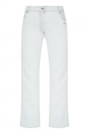 Прямые светло-голубые джинсы Off-white. Цвет: голубой
