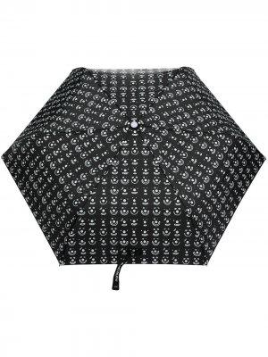 Зонт с принтом Smiley 10 CORSO COMO. Цвет: черный