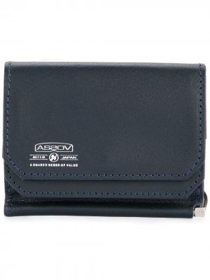 Бумажник из бычьей кожи As2ov. Цвет: синий