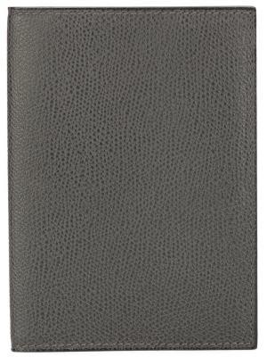 Обложка для паспорта Valextra. Цвет: серый