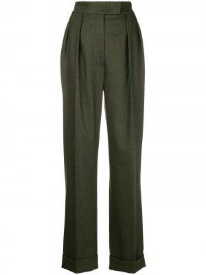 Широкие брюки с полосками Agnona. Цвет: зеленый