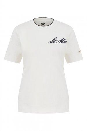 Белая футболка Lucia Bogner. Цвет: белый