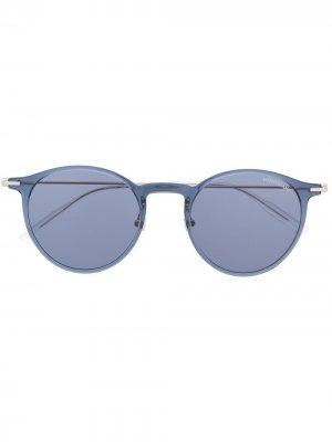 Солнцезащитные очки в прозрачной оправе Montblanc. Цвет: серебристый