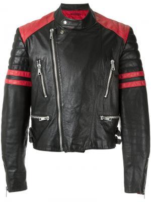 Байкерская куртка с рисунком À La Garçonne. Цвет: черный