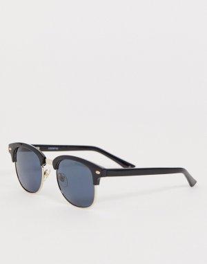 Черные солнцезащитные очки с оправой в стиле ретро и поляризованными стеклами Levis-Черный Levi's