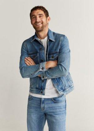 Джинсовая куртка светлого тона - Chance Mango. Цвет: светло-синий