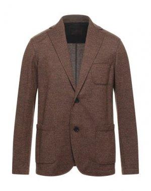 Пиджак ALTEA. Цвет: коричневый