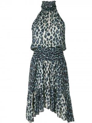 Платье мини с леопардовым принтом A.L.C.. Цвет: синий