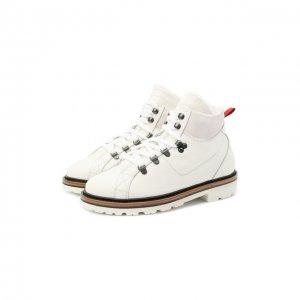 Кожаные ботинки Kiton. Цвет: белый