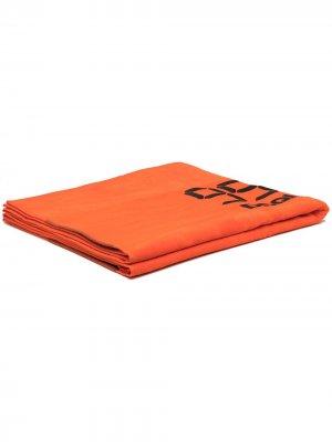 Полотенце с логотипом Dsquared2. Цвет: оранжевый