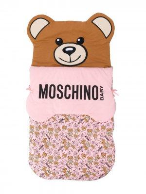 Конверт Teddy Bear с логотипом Moschino Kids. Цвет: розовый