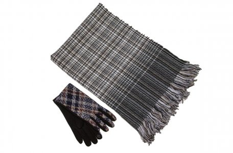 Комплект палантин перчатки MYLIKE