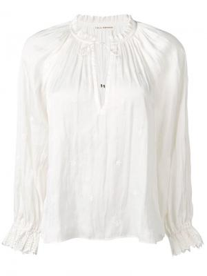 Блузка с горловиной на шнурке Ulla Johnson. Цвет: нейтральные цвета