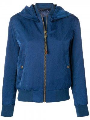 Куртка-бомбер с вышивкой Mr & Mrs Italy. Цвет: синий