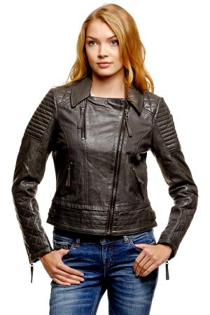 Кожаная куртка Denim 372193900712620 TOM TAILOR. Цвет: серый меланж