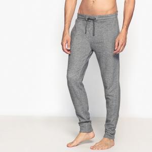 Брюки пижамные из мольтона LA REDOUTE COLLECTIONS. Цвет: серый меланж