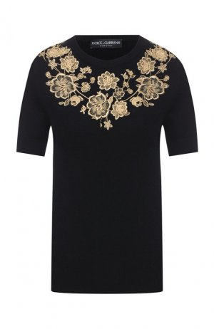 Кашемировый пуловер Dolce & Gabbana. Цвет: черный