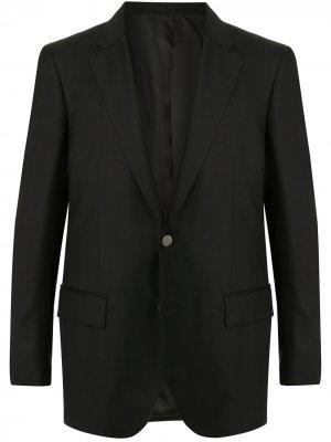Пиджак строгого кроя Gieves & Hawkes. Цвет: черный