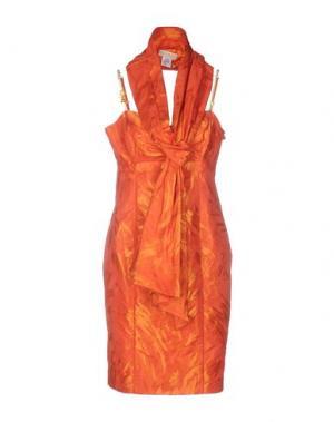 Платье до колена CARLO PIGNATELLI. Цвет: ржаво-коричневый