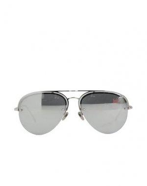Солнечные очки LINDA FARROW. Цвет: серебристый