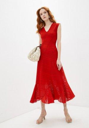 Платье Fuzzi. Цвет: красный