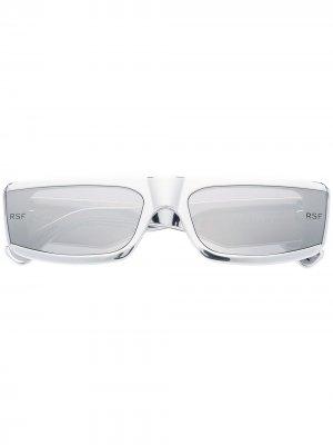 Солнцезащитные очки в прямоугольной оправе Retrosuperfuture. Цвет: серебристый