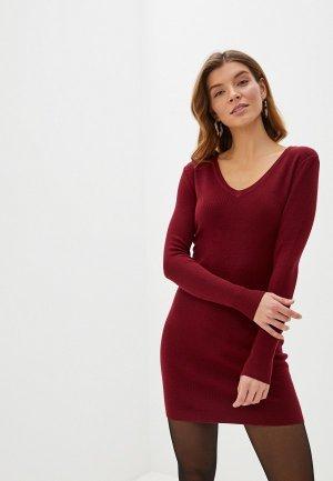 Платье Блисс. Цвет: бордовый