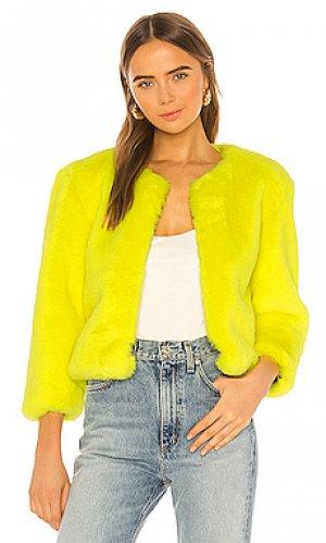 Куртка из искусственного меха miami chubbie Central Park West. Цвет: желтый