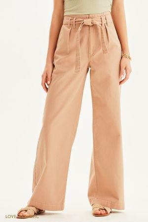 Широкие джинсы с высокой посадкой LOVE REPUBLIC
