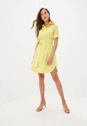 Платье Colletto Bianco. Цвет: желтый