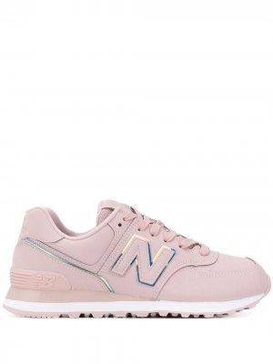 574 low-top sneakers New Balance. Цвет: розовый