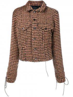 Твидовый пиджак в ломаную клетку Haider Ackermann. Цвет: желтый