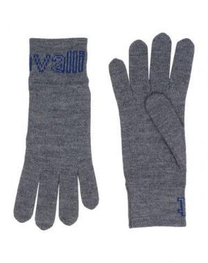 Перчатки JUST CAVALLI. Цвет: серый