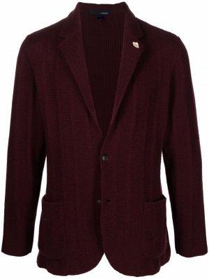 Пиджак тонкой вязки Lardini. Цвет: красный