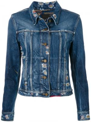Приталенная джинсовая куртка Saint Laurent. Цвет: синий
