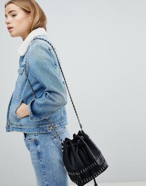 Джинсовая куртка с воротником из искусственного меха Pimkie. Цвет: синий