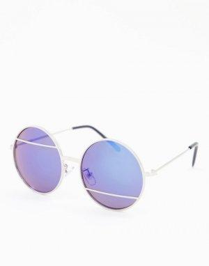 Круглые солнцезащитные очки -Золотистый Jeepers Peepers