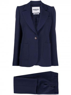 Приталенный костюм-двойка Essentiel Antwerp. Цвет: синий