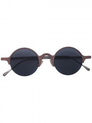 Солнцезащитные очки в полуободковой оправе Rigards. Цвет: черный