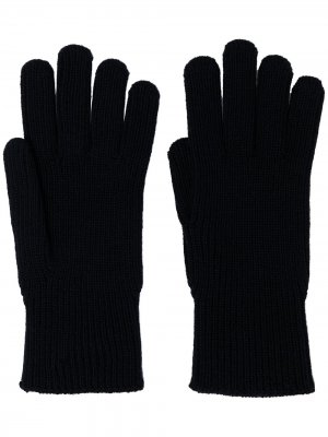 Logo-patch wool gloves Moncler. Цвет: синий
