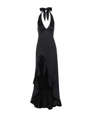 Длинное платье HALSTON. Цвет: черный